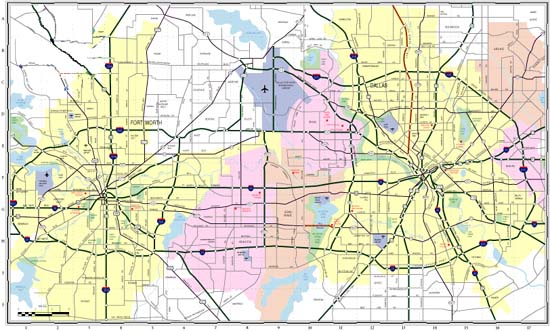 dallas and surrounding area map Search Maps In The Dallas Fort Worth Areas dallas and surrounding area map